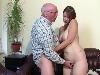 Old Grandfather Butter up sob Grand-daughter encircling First Fornicate