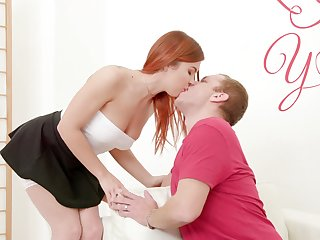 Ginger unshaded Renata Fox gives their way head and gets a mouthful for cum after anal carnal knowledge