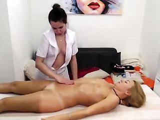 Real unskilful lesbian massage turns secure rimjob together with fingering