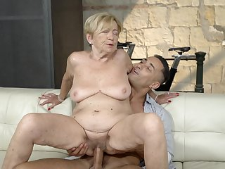Maw feels great regarding a massive young cock inside her pussy