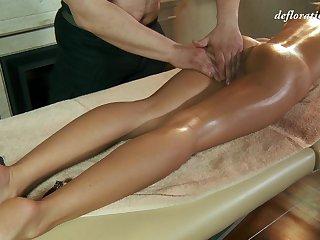 Libidinous virgin Masha Roofkina gets her pussy massaged and fully smug