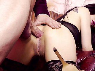 Rough ass jamming for lingerie-clad belle Sweetmeats Chang