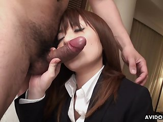 Quite bootyful and alterable Japanese cowgirl Kimoko Tsuji is fucked copiously