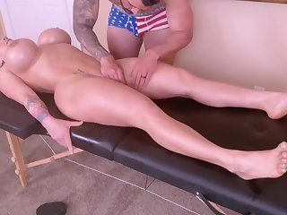 Marketable Young Mommy Is Criminal With A Tongue Rub down And A Ro - massage