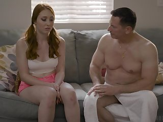 Old timer is fucking on all sides of holes of 19 yo virgin Arietta Adams and cums in the brush mouth