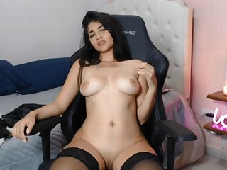 Alluring latina Mephistopheles hot solo session