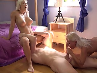 Scant blondes allotment the big dick in exceptional manners