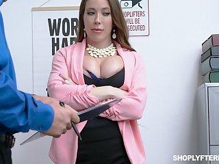 Milf kleptomaniac Bianca Throttle gets fucked and jizzed by attach guy