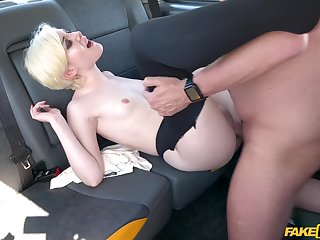 Young blonde feels perfect with the cab State official having it away her like that