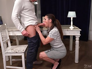 Still not bad looking full-grown whore Mariana is fucked darn great by stud