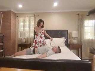 Hidden camera sex footage featuring milf Vera King bonking stepson